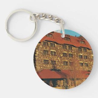 Round Keychain with Grove Park Inn Photo