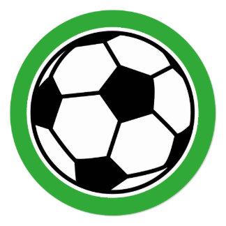 round kids soccer birthday party invitations - Soccer Party Invitations