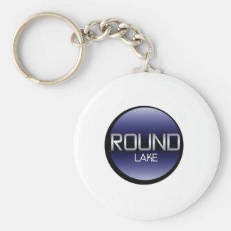 Round Lake Basic Round Button Keychain