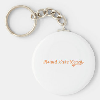 Round Lake Beach Illinois Classic Design Basic Round Button Keychain