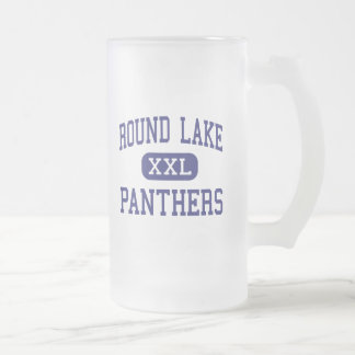 Round Lake - Panthers - High - Round Lake Illinois 16 Oz Frosted Glass Beer Mug