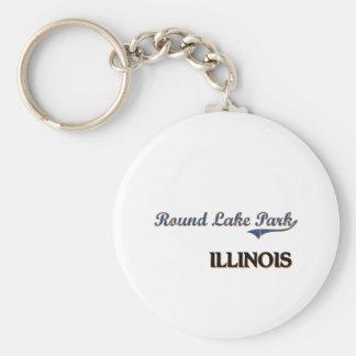 Round Lake Park Illinois City Classic Basic Round Button Keychain