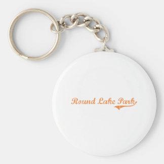 Round Lake Park Illinois Classic Design Basic Round Button Keychain