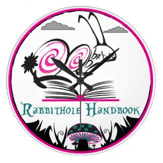 Round (Large) RABBITHOLE HANDBOOK Large Clock