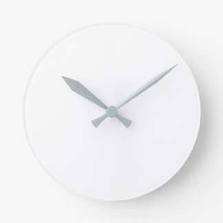 Round (Large) Wall Clock - Grey hands