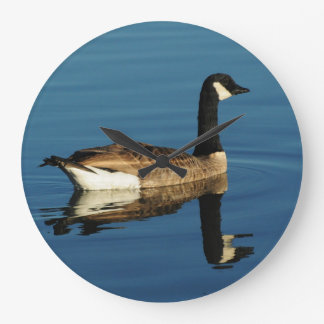 Round (Large) Wall Clock with Canada Goose
