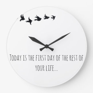 Round (Large) Wall Clock With Quotes