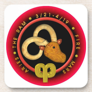 round logo template coaster