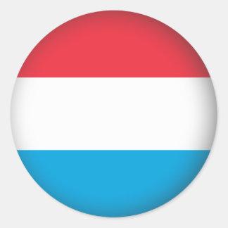 Round Luxembourg Round Stickers