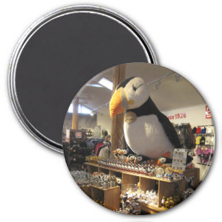 Round Magnate With Puffin Picture Magnet