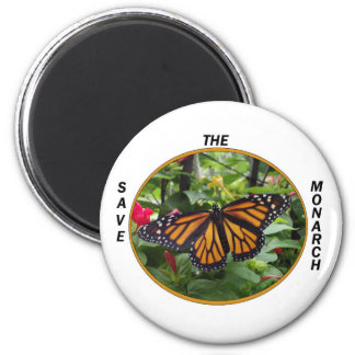 Round Magnet 2 1/4 Inch, Monarch Style #5