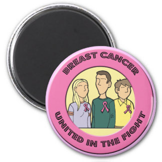 Round Magnet - Breast Cancer Fight
