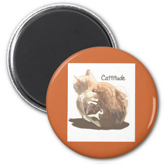 Round Magnet- Cattitude