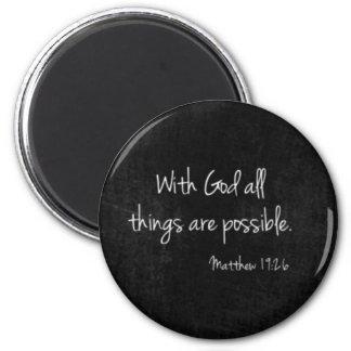 Round Magnet Matthew 19:26