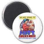 Round Magnet - Mitt Chicks Rock!
