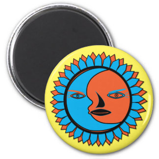 Round Magnet MOON SUN REFLECTION