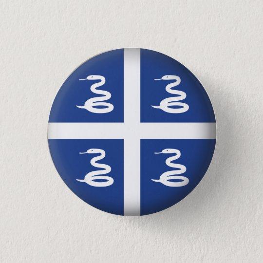 Round Martinique Pinback Button