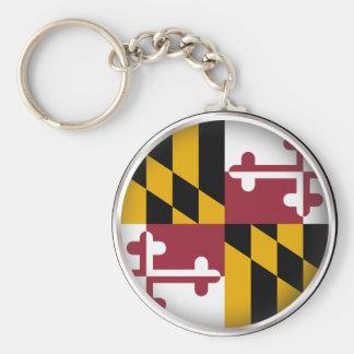 Round Maryland Basic Round Button Keychain