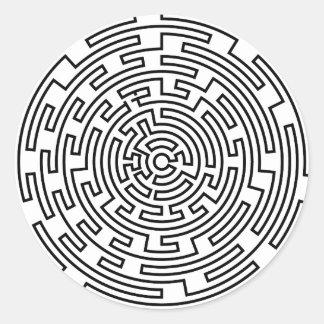 Round Maze Classic Round Sticker