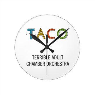 Round (Medium) TACO Wall Clock