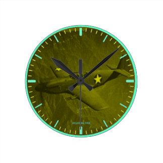Round Medium Wall Clock p51 on a mission