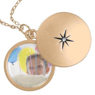 Round Metal Locket  w/  a Polished  Gold Finish