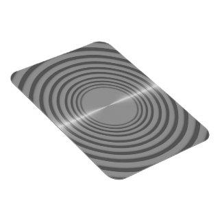 Round Metal Slats Background Image Rectangular Magnets