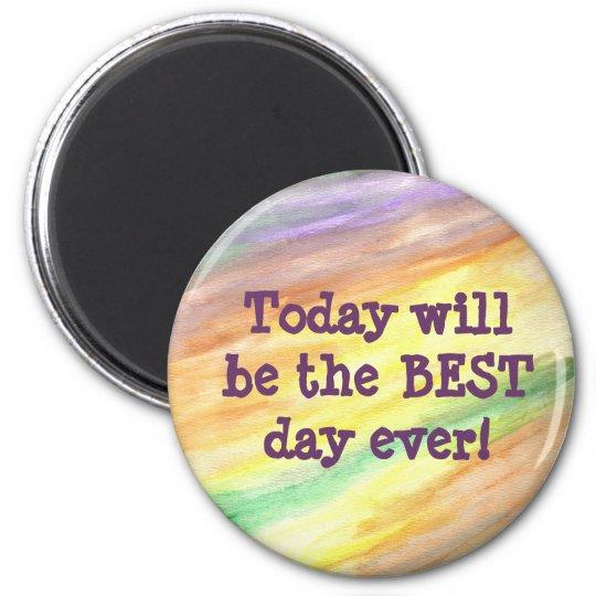 Round Motivational Magnet