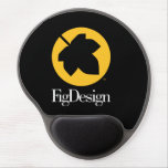 Round Mouse Pad with Gel Wrist Rest<br><div class='desc'>Sports the FigDesign logo.</div>