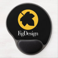 Round Mouse Pad with Gel Wrist Rest