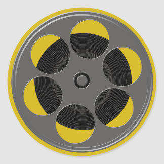 Round Movie Reel Classic Round Sticker