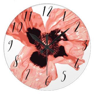 Round mural clock Poppy