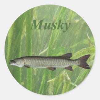 Round Musky Sticker