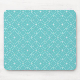 Round n Round - in Light Blue Mouse Pad