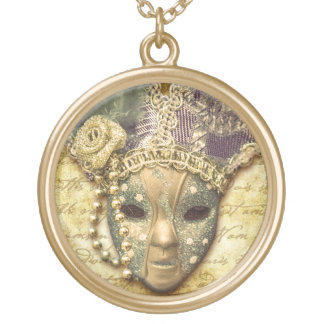 Round Necklace & Venetian Carnival Mask