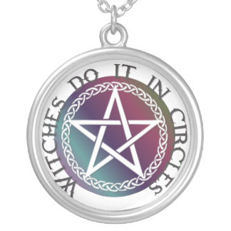 """Round necklace """"Witches do it in circles"""""""