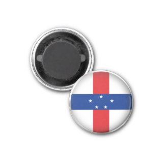 Round Netherlands Antilles Magnet