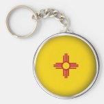 Round New Mexico Key Chain