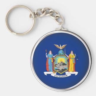 Round New York Key Chain