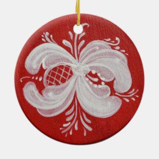 Round Norwegian Ceramic Ornament