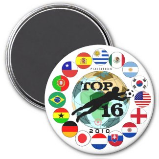 Round Of 16 Goal Flags Magnet World Cup magnet