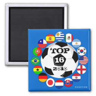 Round Of 16 Team Flags Magnet World Cup