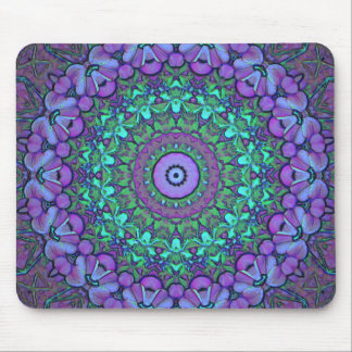 Round of Flowers Mousepad #2