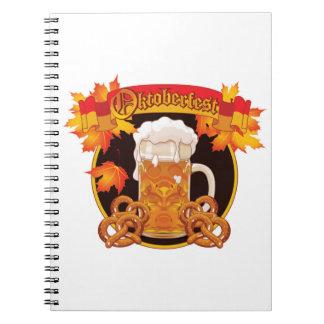 Round Oktoberfest Celebration Design Notebook