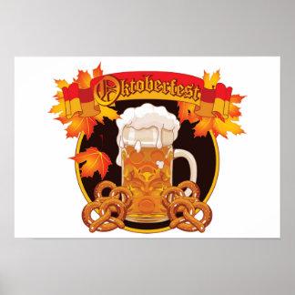 Round Oktoberfest Celebration Design Poster