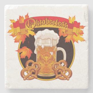 Round Oktoberfest Celebration Design Stone Beverage Coaster