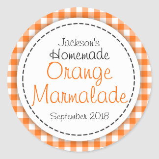 Round Orange Marmalade jam jar food label