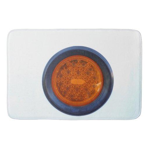 Round Orange Taillight Auto Part Bathroom Mat Zazzle
