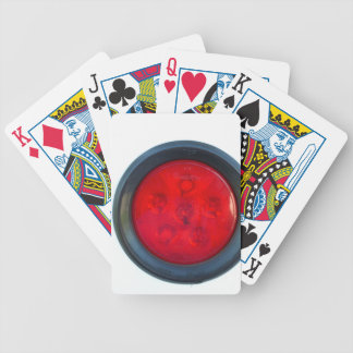 round orange taillight auto part bicycle playing cards