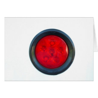 round orange taillight auto part card